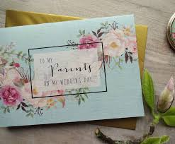 To My Parents On My Wedding Day Thank You Card By Sweet Pea Sunday