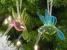 Amazon.com: Hummingbird Glass Ornaments with Glitter Accents - Set of 3 -  Handblown Ornament - Holiday Decorations Christmas Tree Ornaments Xmas Gift  for ...
