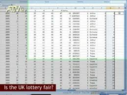 Lottery Numbers In A Spreadsheet