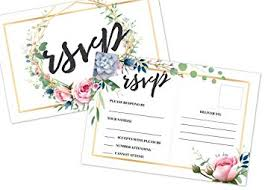 Save The Date No Photo 50 Rsvp Cards Blank No Envelopes Required Flowers Printing Floral Wedding Rehearsal Bridal Shower Invitation Save The Date A2