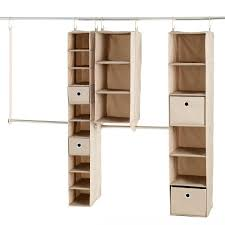 neatfreak 6 ft 8 ft fabric closet kit hanging organizer 9