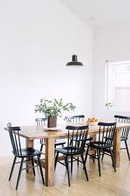 simple wood dining room chairs. black dining chairs with rustic wood table simple room t