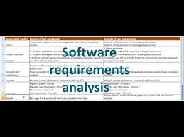 Requirement Analysis Template Magnificent Software Requirements Analysis YouTube