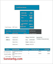 Proforma Invoice Format In Excel For Template Best Of Travel