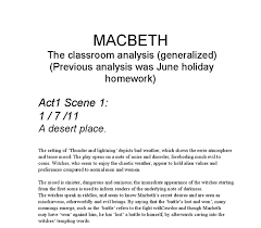 notes for macbeth essay macbeth study help essay questions cliffsnotes