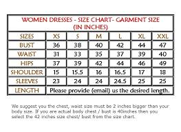 Dress Sizing Charts Coreyconner