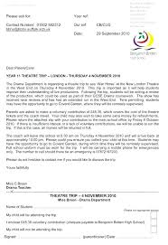 School Trip Letter To Parents Template Gdyinglun Com