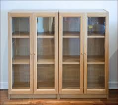 shelves with glass doors bookshelf cherry built in