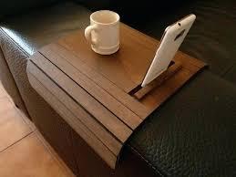 sidetables over arm side table wooden clip on armchair sofa chair armrest tray stand medium