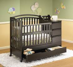 awesome black baby cribs with changing table made from wood