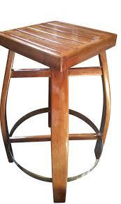 36 round teak wood table top on wbt 35 wbc 38 oak barre lstave bar stool