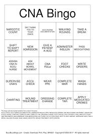 Cna Charting Cna Bingo Instructions