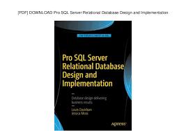 Pdf Download Pro Sql Server Relational Database Design And