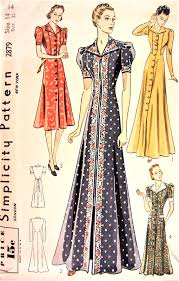 Dress Patterns Amazing 48s FAB HouseCoat Robe Hostess Gown Or Dress Pattern SIMPLICITY
