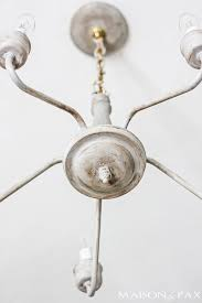 transform an outdated brass chandelier with chalk paint maisondepax com