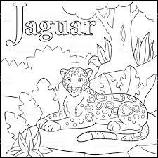 Coloriage Alphabet Animaux De Dessin Anim J Est Pour Jaguar Stock