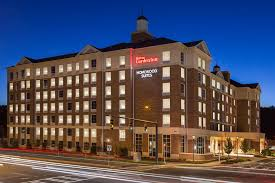 the building where the hotel is located a bird s eye view of hilton garden inn charlotte southpark
