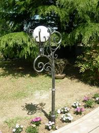wrought iron lampposts garden hand made and decorated lamp for