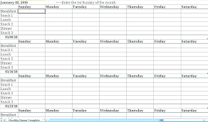 Weekly Meal Planning Template Timetoreflect Co