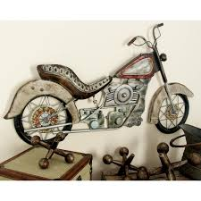 metal vintage motorcycle wall plaque on motorcycle wall art sculpture with litton lane 17 in x 30 in metal vintage motorcycle wall plaque