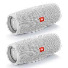 Get the JBL Charge 4 Waterproof Portable Wireless Bluetooth Speaker Bundle  - Pair (White) from World Wide Stereo now
