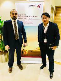 """Francesco Rios on Twitter: """"With the Head of Global Sponsorship of Qatar  Airways, Mr. Babar Rahman, good meet and also nice to see you my dear!  Thanks for the hospitality!!!… https://t.co/lYlLVMAlMO"""""""