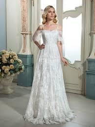 short vintage wedding dress. spaghetti strap short sleeves lace zipper-up a-line wedding dress vintage