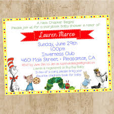 Book Themed Baby Shower Invitations - Marialonghi.Com