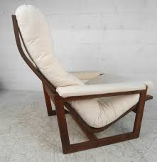 unique lounge chairs. Unique Mid-Century Modern Teak Frame Lounge Chair With Ottoman In Good Condition For Sale Chairs H