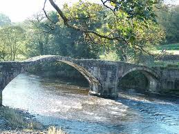 "Old Roman Bridge over river Hodder at Hurst Green Nr. Ribchester,  Lancashire."" by Marshall Barton at PicturesofEngland.com"