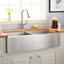 42 optimum double bowl stainless steel farmhouse sink wave a