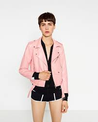 this pink faux leather jacket is just 39 99 from zara
