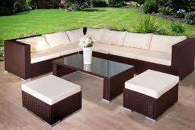 9 seat rattan furniture set garden