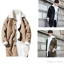 2017 mens winter suede trench coat fall shearling single ted trench wool inside long men s winter clothing by hikee01 dhgate com
