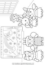 Calico Critters Coloring Pages Families Calico Critters Free