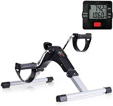 Folding Pedal Exerciser with <b>Multifunctional</b> LCD Display <b>Mini</b> Arm ...