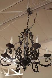 item l10 acanthus leaf iron chandelier c 1880
