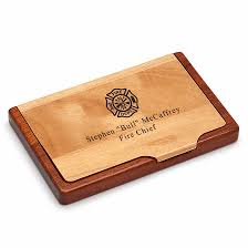 Firefighters Engraved Business Card Holder Executive Gift Shoppe