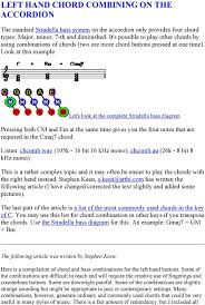 Accordion Keys Chart Left Hand Chord Combining On The Accordion Pdf Free Download