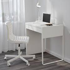 narrow computer desk ikea micke white for small space