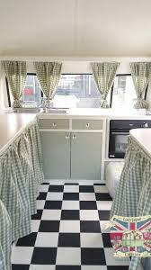 Campervan Design Curtains Vintage Caravan Bespoke Built Soft Catering Interior