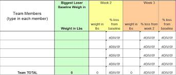 Biggest Loser Printable Weight Loss Chart Best Picture Of