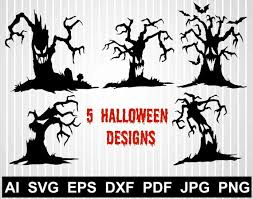 I've put together a collection of my favorite svg images dreaming tree has almost 100 beautiful, carefully designed svg files, all for free. Halloween Haunted Tree Svg Files For Cricut Pumpkin Clipart Etsy