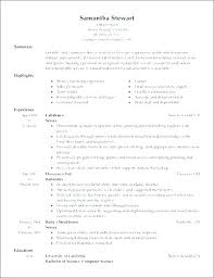 Resume For Restaurant Restaurant Server Resume Restaurant Job