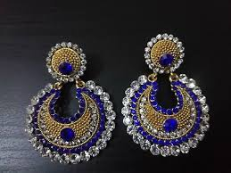 designer indian chandelier earrings