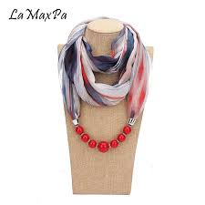 lamaxpa new fashion pendant scarf for women accessories hijab femme elegant pendants scarf ep resin alloy