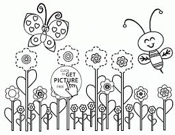 Small Picture Coloring Pages Girl And Umbrella Coloring Page For Kids Spring