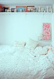 high shelves in bedroom