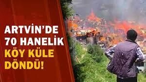 Son Dakika! Artvin'de Koca Köy Yandı! / A Haber - YouTube