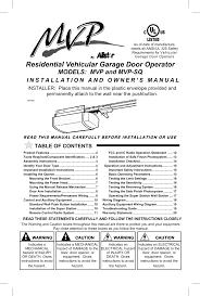 Linear Mvp50 1z2 Hp Chain Drive Residential Garage Door